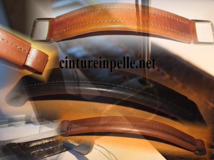Manici in pelle e cuoio Erregiottanta production of genuine leather ... 79dcfed1396