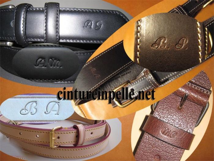 Buoni prezzi prezzo migliore qualità affidabile Cinture in pelle personalizzate su misura Erregiottanta ...